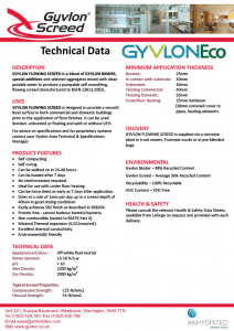 Gyvlon Eco Technical Data