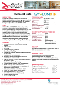 Gyvlon XTR Technical Data
