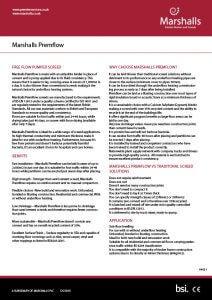 Marshalls Premflow datasheet