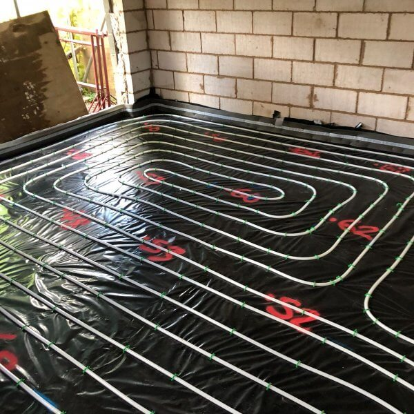 Underfloor Heating Insulation Installation